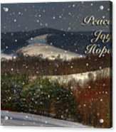 Soft Sifting Christmas Card Acrylic Print by Lois Bryan