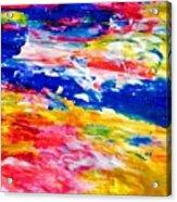 Soft Strokes Aesthetic Sunset Acrylic Print