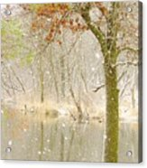 Softly Falls The Snow Acrylic Print