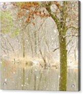 Softly Falls The Snow Acrylic Print by Lori Frisch