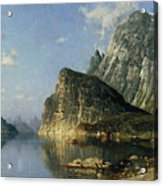 Sogne Fjord Norway  Acrylic Print