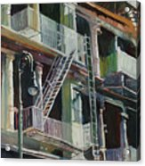 Soho Fire Escapes Acrylic Print