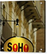 Soho Wine Bar Acrylic Print
