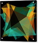 Soil Polygon Pattern Acrylic Print