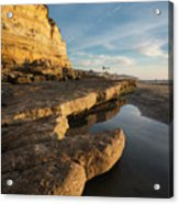 Solana Beach Low Tide Acrylic Print