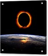 Solar Eclipse From Above The Earth 2 Acrylic Print