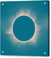 Solar Eclipse In Morning  Color Acrylic Print