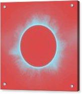 Solar Eclipse In Reddish Pink Acrylic Print