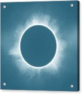 Solar Eclipse In Stormy Sky Color Acrylic Print
