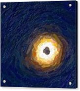 Solar Eclipse In Totality Painting Acrylic Print