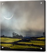 Solar Eclipse Over County Clare Countryside Acrylic Print