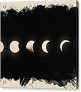 Solar Eclipse Phases Acrylic Print