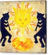 Solar Feline Entity Acrylic Print
