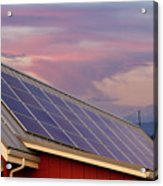 Solar Panels On Roof Of House Acrylic Print
