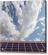 Solar Panels On Roof Top Acrylic Print