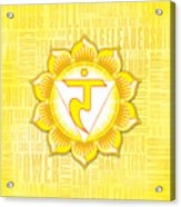 Solar Plexus Chakra - Awareness Acrylic Print