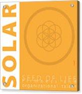 Solar Plexus Chakra Series Three Acrylic Print