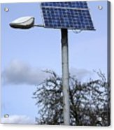 Solar Powered Street Light, Uk Acrylic Print by Mark Williamson