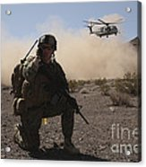 Solders Are Inserted By A Ch-53 Super Acrylic Print