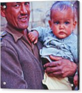 Soldier And Baby Acrylic Print