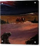 Soldier And Wise Men On The First Christmas Acrylic Print