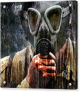 Soldier In World War 2 Gas Mask Acrylic Print