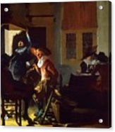 Soldiers Beside A Fireplace 1632 Acrylic Print