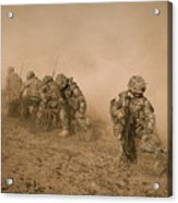 Soldiers In The Dust 2 Acrylic Print