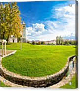 Solin Park And Church Panoramic View Acrylic Print
