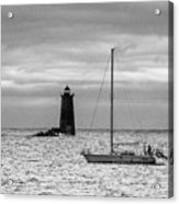 Solitary Sailor, New Castle Sunrise Acrylic Print