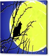 Solitary With Golden Moon Acrylic Print