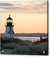 Solitude At Brant Point Light Nantucket Acrylic Print