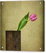 Solitude In Bloom Acrylic Print