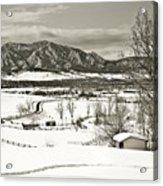 Solitude In Boulder County Acrylic Print