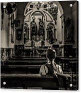 Solitude In Village Church Acrylic Print