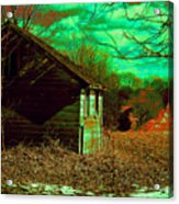 Solitude On The Backroads In Neon Acrylic Print