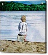 Solitude Upon The Lake Acrylic Print