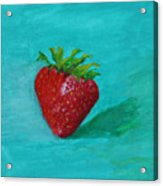 Solo Strawberry Acrylic Print