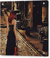 Soloist - Solitary Woman With Violin Acrylic Print