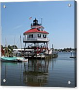 Solomons Island - Drum Point Lighthouse Reflecting Acrylic Print