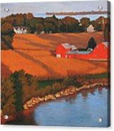 Solomons Red Barn At Sunset Acrylic Print