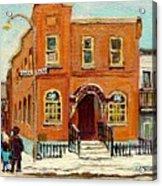 Solomons Temple Montreal Bagg Street Shul Acrylic Print