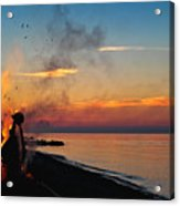 Solstice Bonfire Acrylic Print