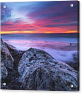 Solstice Sunrise At Jennes Beach Acrylic Print