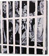 Some Of The 210 Demonstrators Jailed Wave From Their Cell 1964 Acrylic Print
