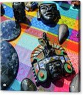 Some Special Dark Black Rocks Acrylic Print
