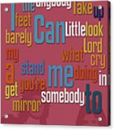 Somebody To Love. Queen. Typography Art. Gift For Music Fans Acrylic Print