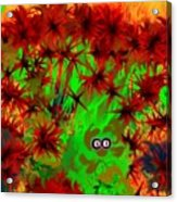 Someone Peers Between The Flowers In The Jungle Acrylic Print