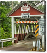 Somerset County Burkholder Covered Bridge Acrylic Print