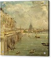 Somerset House Terrace From Waterloo Bridge Acrylic Print by John Constable